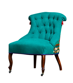 chair-green-parrot